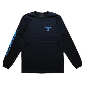 【HELLOWPRESSURE L/S TEE】black/blue