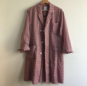 ドクターコート チェック  Whyte Coat Dr.Christopher(black/red gingham-check)