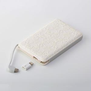 【1/31販売終了】モバイルバッテリー(星のかけら)〔全機種対応・ケーブル内蔵・5000mAh〕