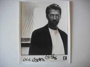 【PHOTO】ERIC CLAPTON / サイン入りプロモ・フォト