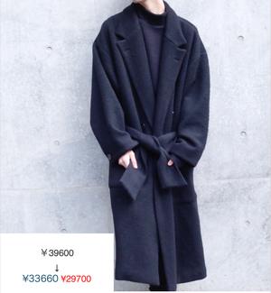 LONG COAT/BLACK