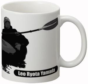 陶器マグカップ パドリングシルエット(Leo R. Yamada)