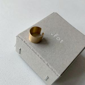 【_Fot】plate earring_circle○(ear cuff)/0802a