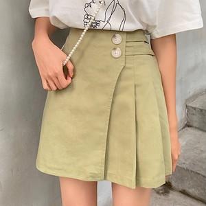 【ボトムス】韓国ファッション超人気Aライン合わせやすいプリーツスカート