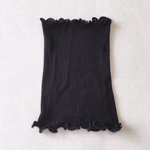 シルク100% ニットネックカバー ブラック