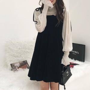【セットアップ】新作韓国風ファッション清新キャミワンピース+カジュアルシャツ2点セット