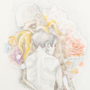 宮西計三『「十五の魂」道化師とその娘』