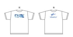 CLUEカモロゴTシャツ ホワイト/ブルーカモ