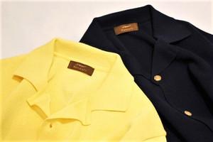Vandori  Rib-knit Open Collar Shirt