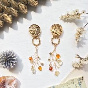 【ナチュリラ掲載】 Germany vintage button earring