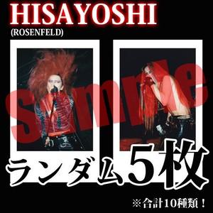 【チェキ・ランダム5枚】HISAYOSHI(ROSENFELD)