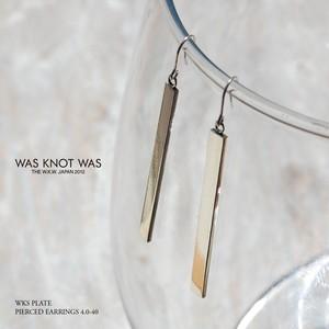 プレートピアス シルバーピアス レディース ハンドメイド WKS PLATE PIERCED EARRINGS 4.0-40 silver950 FA-136