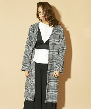 Glen Plaid Cardigan  3AW007-17