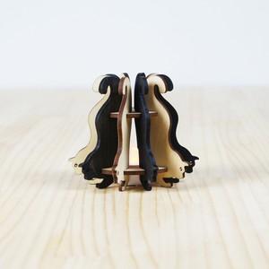 「白ねこと黒ねこ」木製ミニランプ