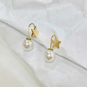 Star pearl pierce[送料無料]/スターパールピアス