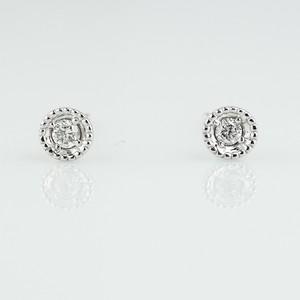 K18×ダイアモンド ピアス(両耳)