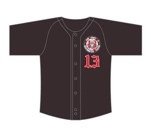スカルリーパーA-jiベースボールシャツ(ブラック)