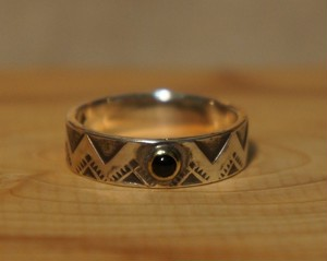 stamp work onyx ring 1