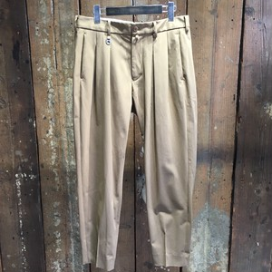 Milok ミロック / BOX TUCK TROUSERS / BEIGE