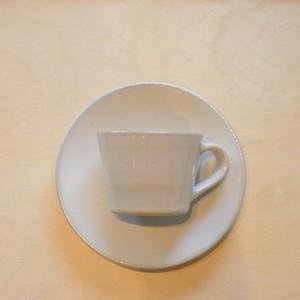 つかもと 益子焼 コーヒーカップ&ソーサー(皿) 糖白釉