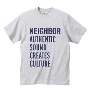 NEIGHBORオリジナルTシャツ(アッシュ × パープル)