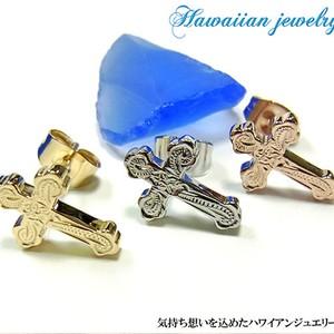 【Hawaiian Jewelry】クロスピアス(片耳用)