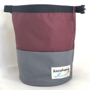 kazahanaグランドチョークバッグ  バーガンディー/グレー
