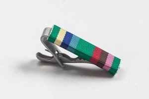 ミリタリーリボン ネクタイピン フレズノ ストライプ Fresno Stripe Ribbon Tie Bar