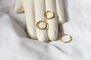 whole simple ring【gold】