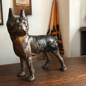 Vintage Doorstop Boston terrier