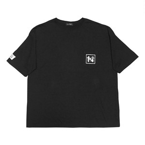 """NOI5E"" Tシャツ(ブロックノイズ)(ブラック)"