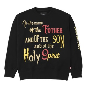 FOAM PRINT PRAYER SWEAT CREW NECK / BLACK
