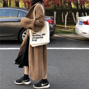 ロング丈 ニット カーディガン セーター【17041】