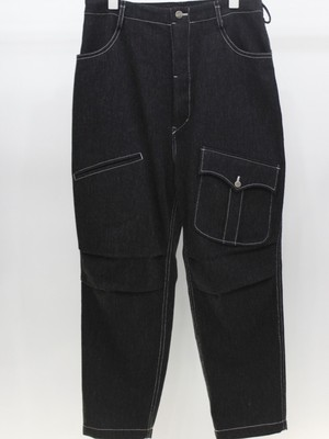 SOSHIOTSUKI wool denim flight pants (C GRAY)