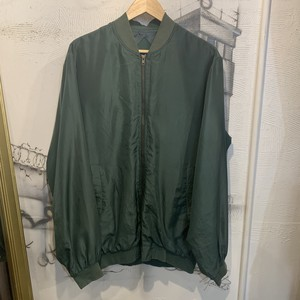 silk zip-up blouson