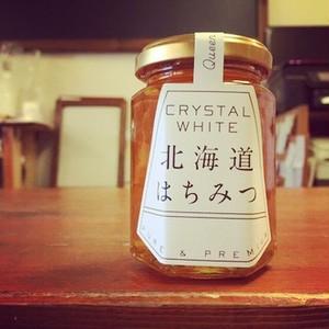 CRYSTAL WHITE 〜北海道はちみつ〜 190g (国産純粋シナ蜂蜜)