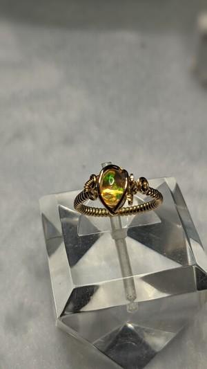 ファイヤーオパールの指輪