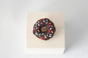 ドーナツのブローチ(チョコレート)