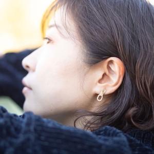 【プレゼントにおすすめ】Missing link pierced (pair) / ミッシングリンクのピアス(ペア)