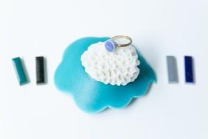 005-r 伝統文化品美濃焼多治見丸タイル指輪・リング(フリーサイズ) ※証明書付