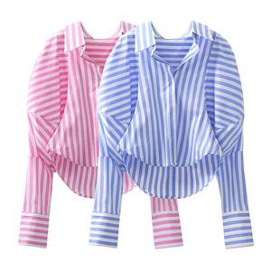 fancy ストライプルーズシャツ c3851
