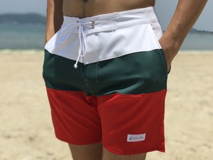 Threeborder Board Shorts(white×green)