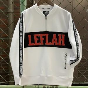 LEFLAH / レフラー | Zip Henry Sweat - White (ハーフジップスゥエット)