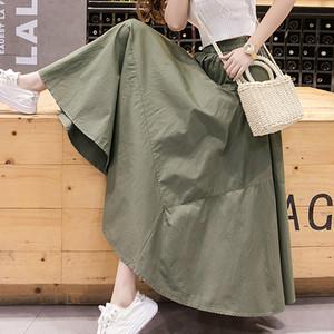 【ボトムス】日系今季注目文芸スタイルすっきりしたギャザー飾りスカート