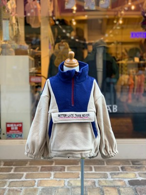 KIDS:NEEDLE WORKS【ニードルワークス】BIG Fleece Jacket(ベージュ/90〜150cm)フリースジャケット