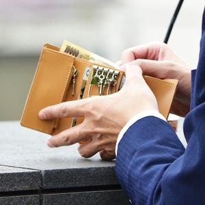 小さいコンパクトなお財布 TINY KEY WALLET タイニーキーウォレット <キャメル>革財布