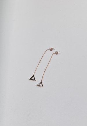 triangle frame pierce Pink Gold/Pink