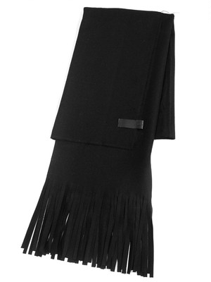 Jersey scarf 'long fringe' ストール  172ASF26