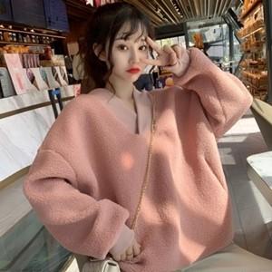 韓国ファッション ボア ジャケット ジャンバー ボアブルゾン トレーナー