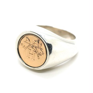 Hermès Vintage Sterling Silver & 18k Pink Gold Ring